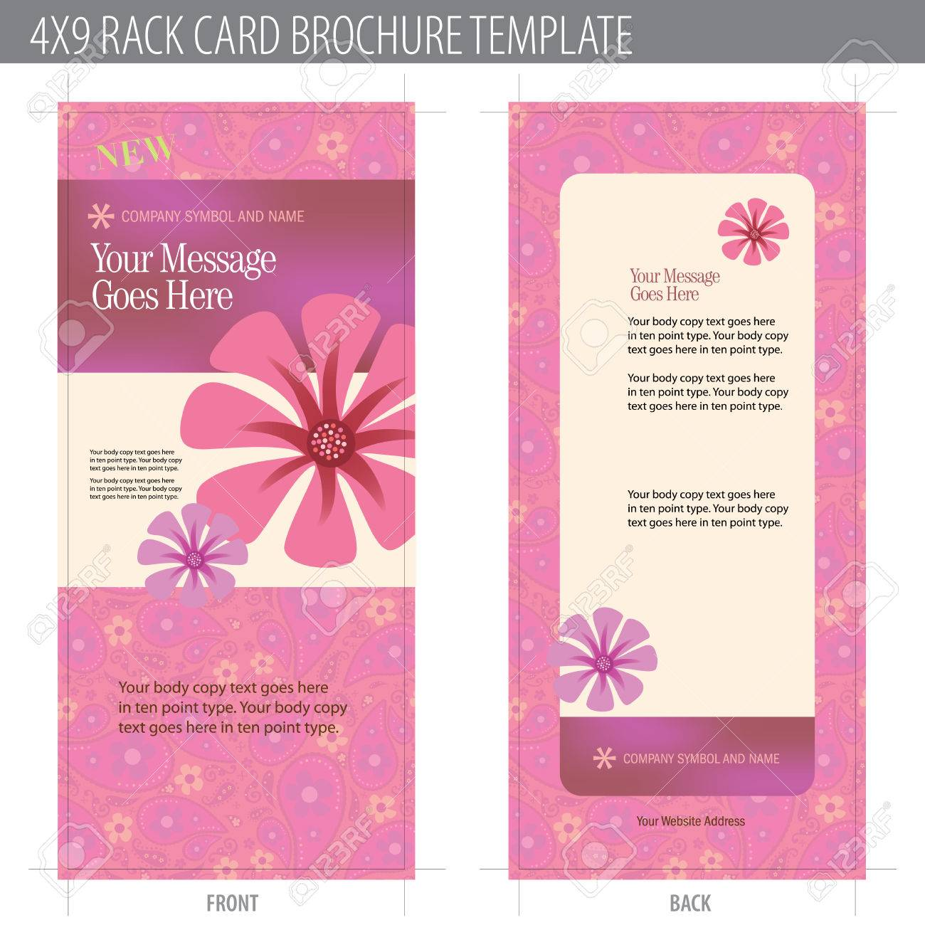 4x9 Rack Card Brochure Template (includes cropmarks, bleeds, and keyline - elements in layers) More in portfolio Stock Vector - 4775971