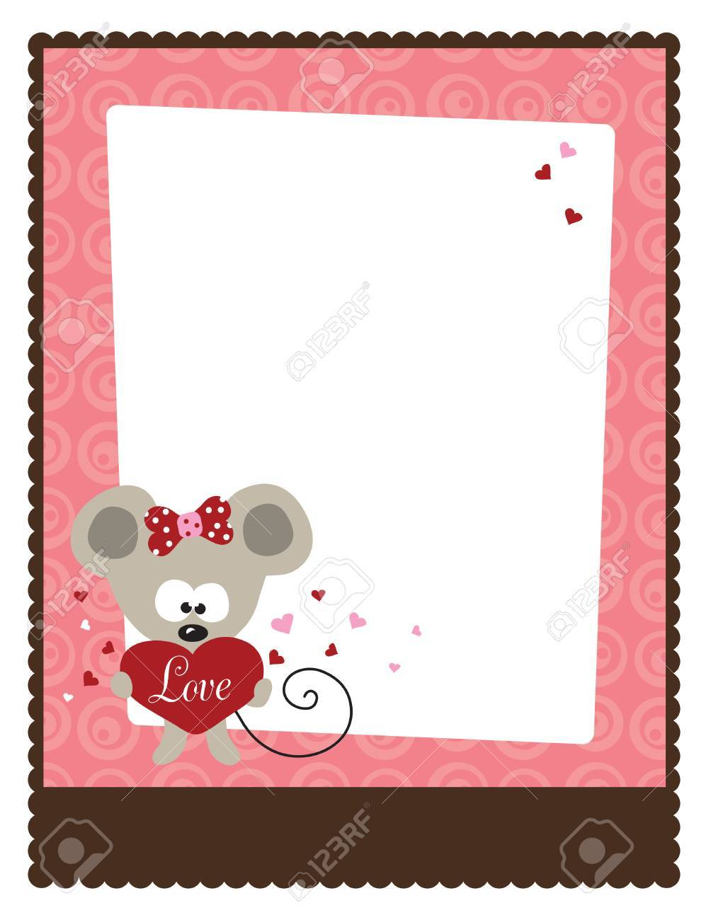 8 5x11 Valentine S Day Flyer Template Royalty Free Cliparts Vectors