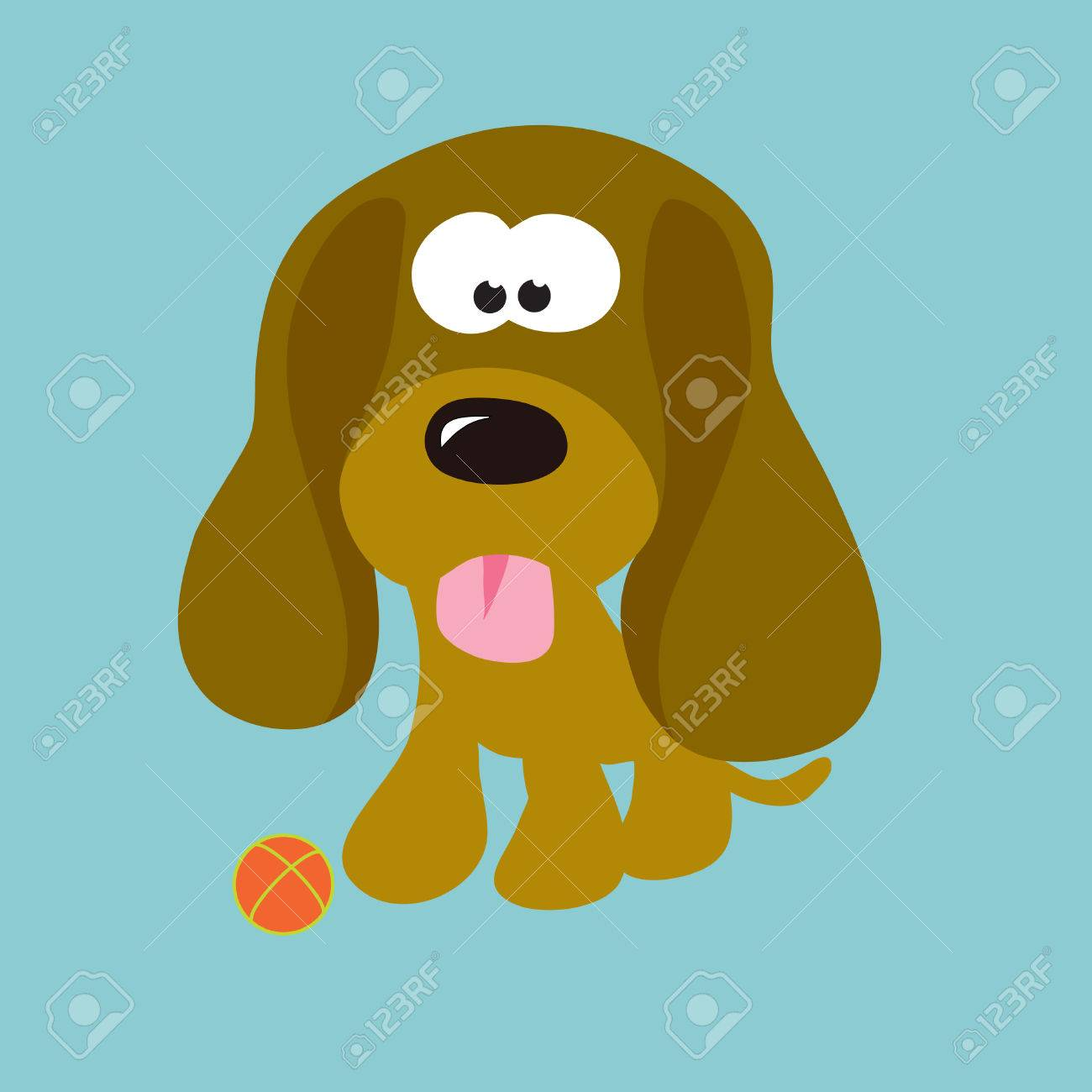 Droopy Ears Puppy Stock Vector - 5529361