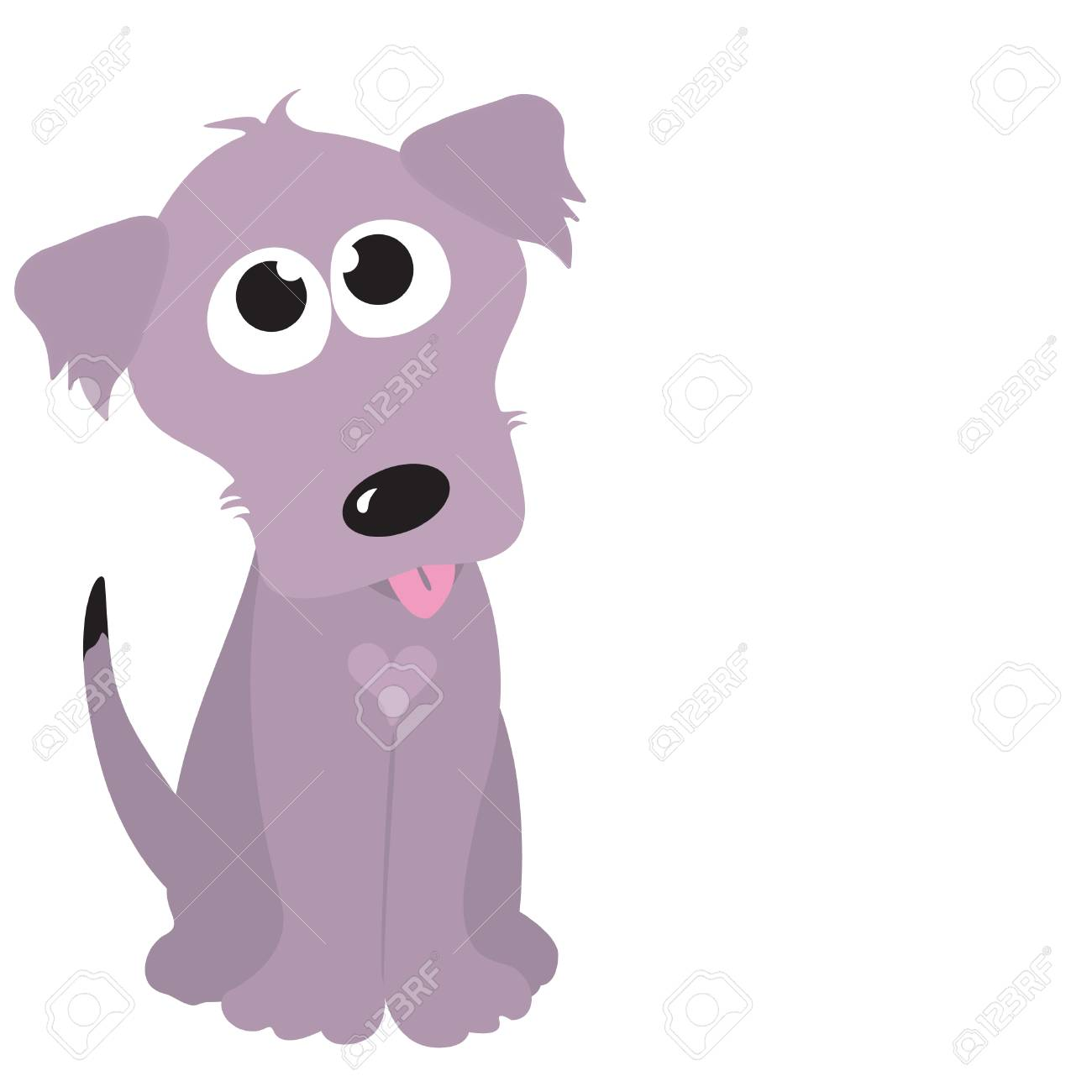 Isolated Dog with Heart (add your own message) Stock Vector - 5528862