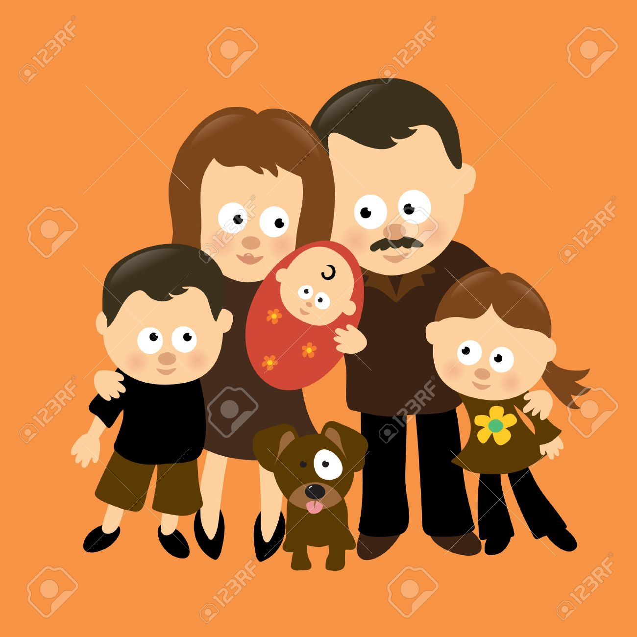 We are Family 3 (Hispanic) Stock Vector - 6349128