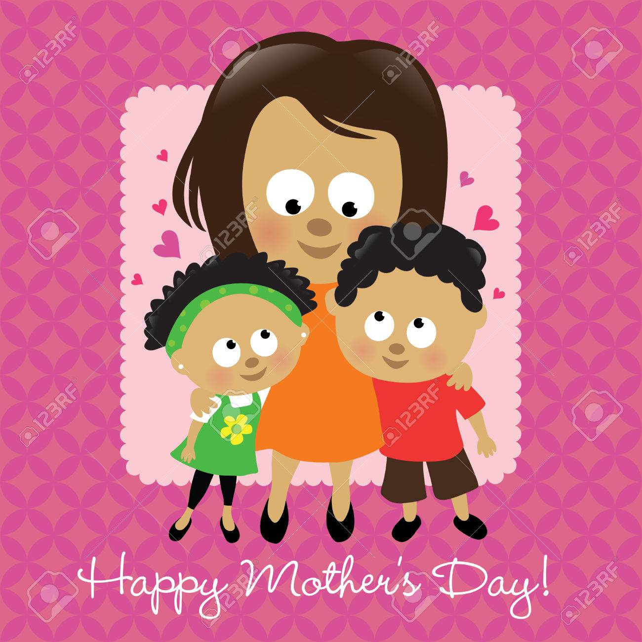 Happy Mother's Day African American Stock Vector - 6770109