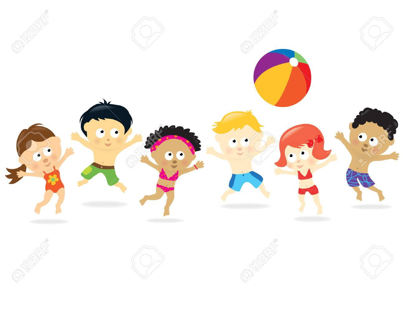 Beach Kids - multi-ethnic - 6983226