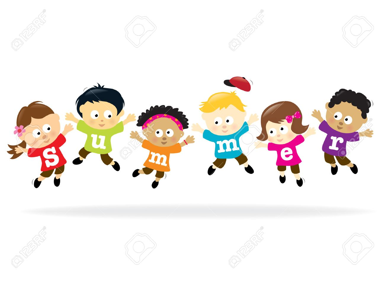 Summer Fun kids - multi-ethnic - 6983228