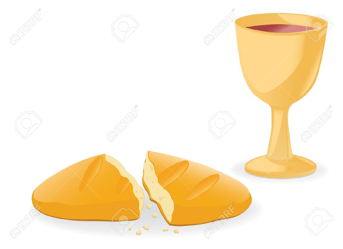 Communion � bread and wine Stock Vector - 12460497