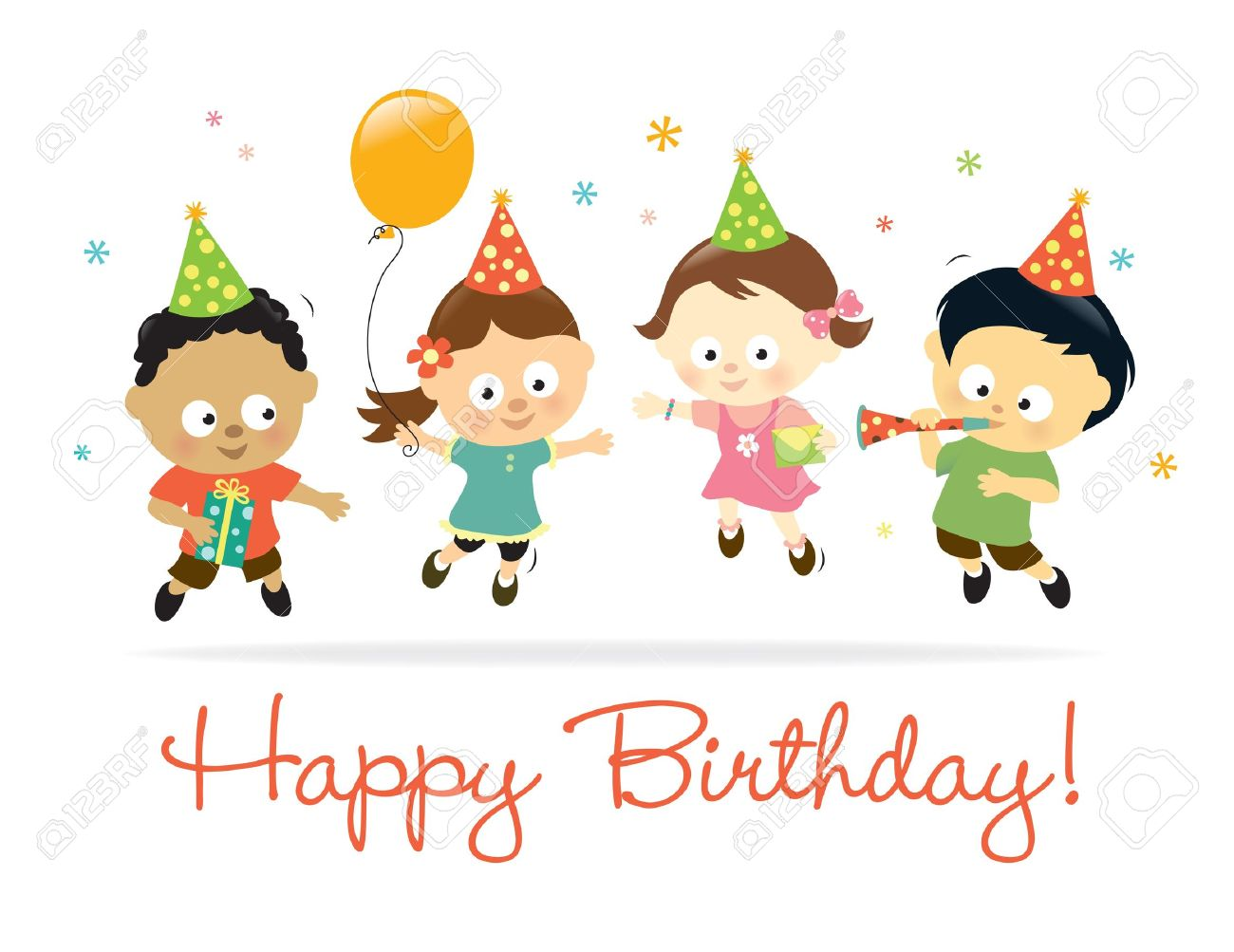 Happy Birthday Kids Royalty Free Cliparts Vectors And Stock