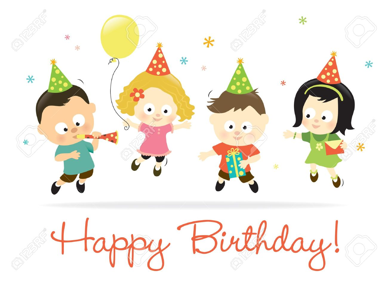 Happy Birthday Kids 2 Royalty Free Cliparts Vectors And Stock