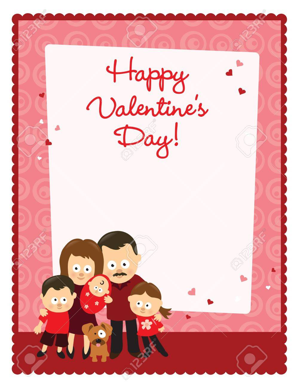 Valentine S Day Flyer With Family Royalty Free Cliparts Vectors