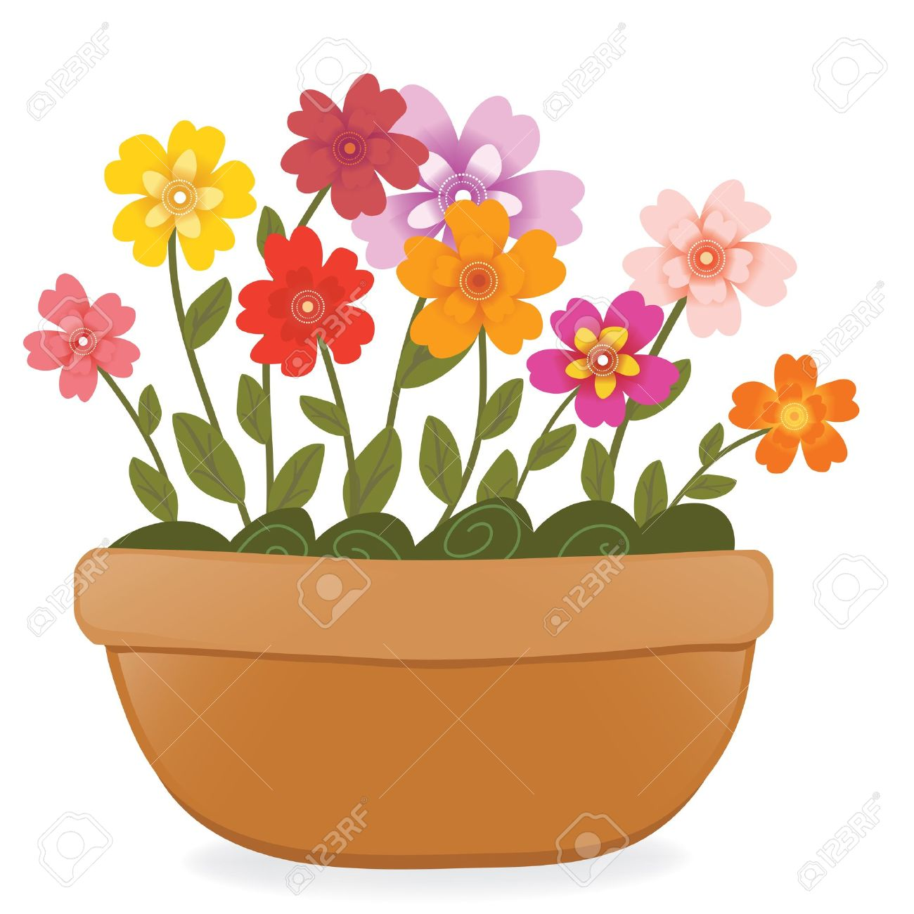 flower pot royalty free cliparts vectors and stock illustration rh 123rf com empty flower pot clipart flower pot clipart black and white