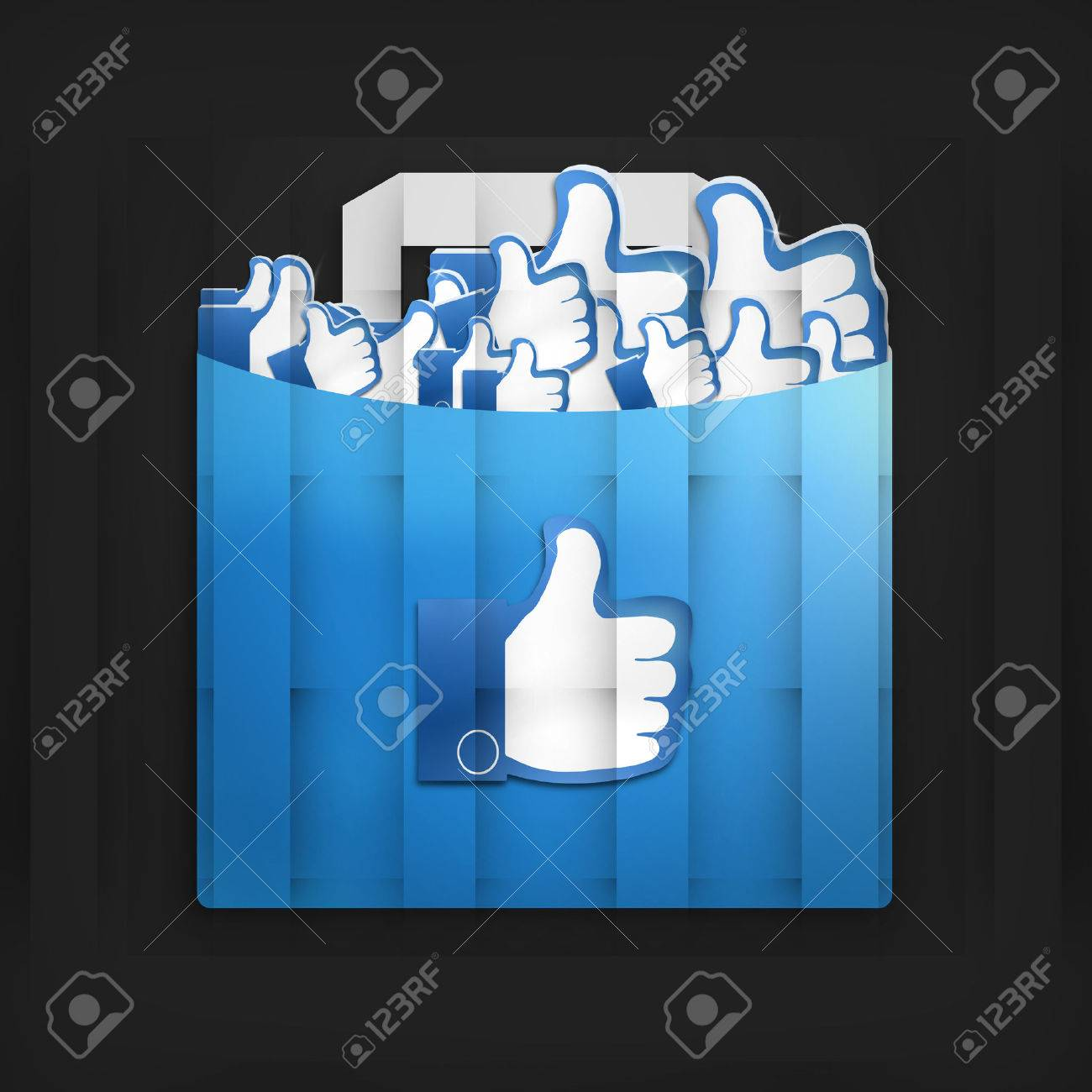 Thumbs Up Social Media Design - 29601314