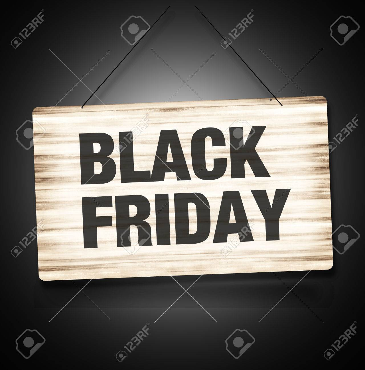 Black Firday Sale Wood Sign - 31128323