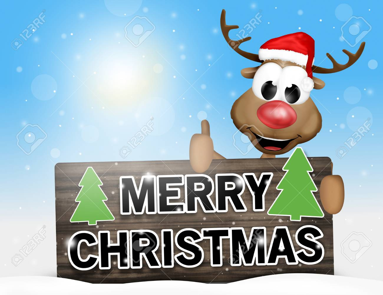merry christmas sign happy reindeer stock photo picture and royalty