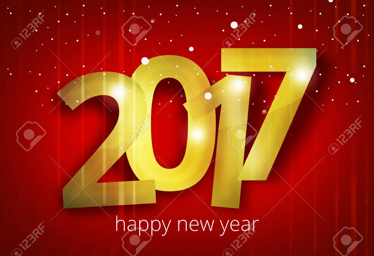 happy new year 2017 3D render design - 58770953