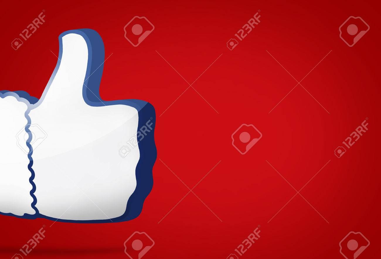 big thumb like icon 3D render - 60502738