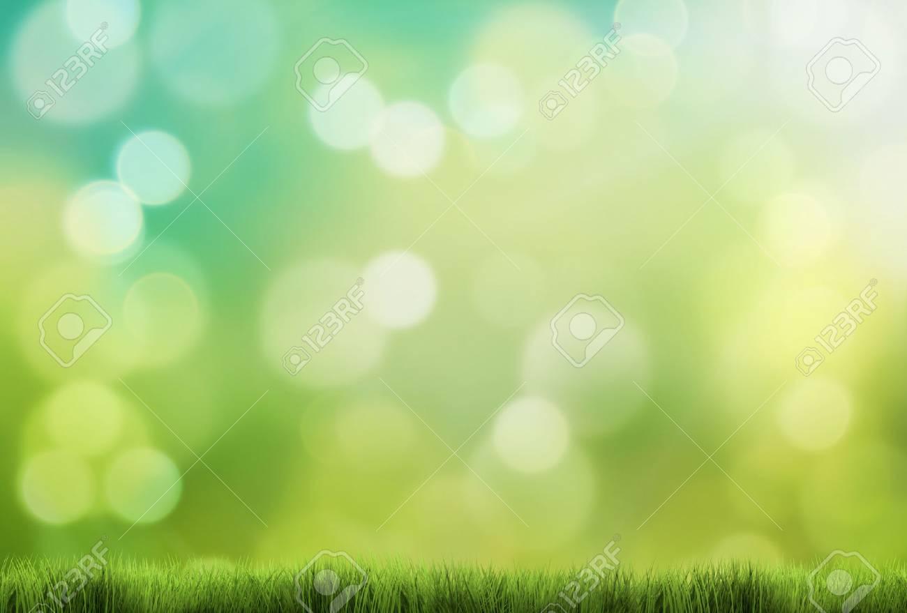 spring background 3d render green grass - 68582470