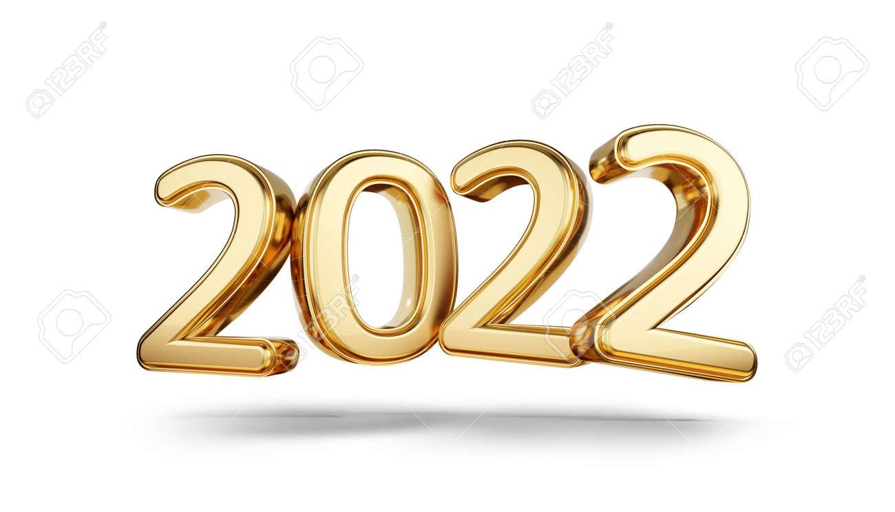 2022 bold letters golden symbol 3d illustration - 169664840