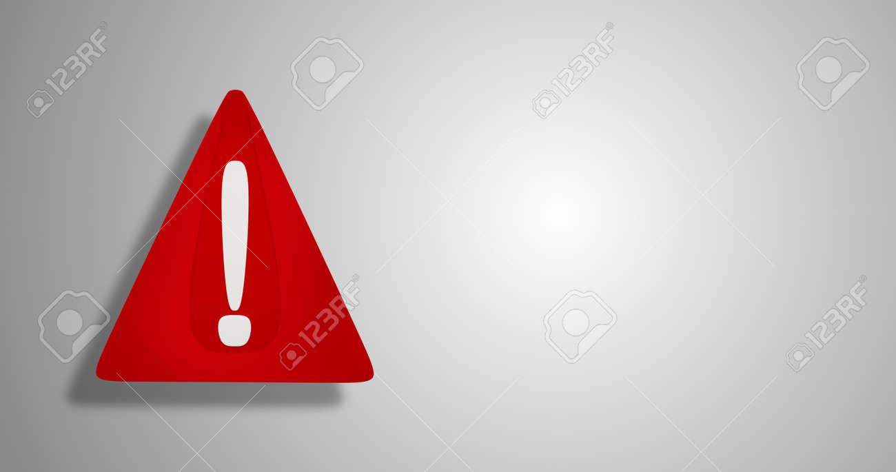 3d illustration red warning sign design - 169664851