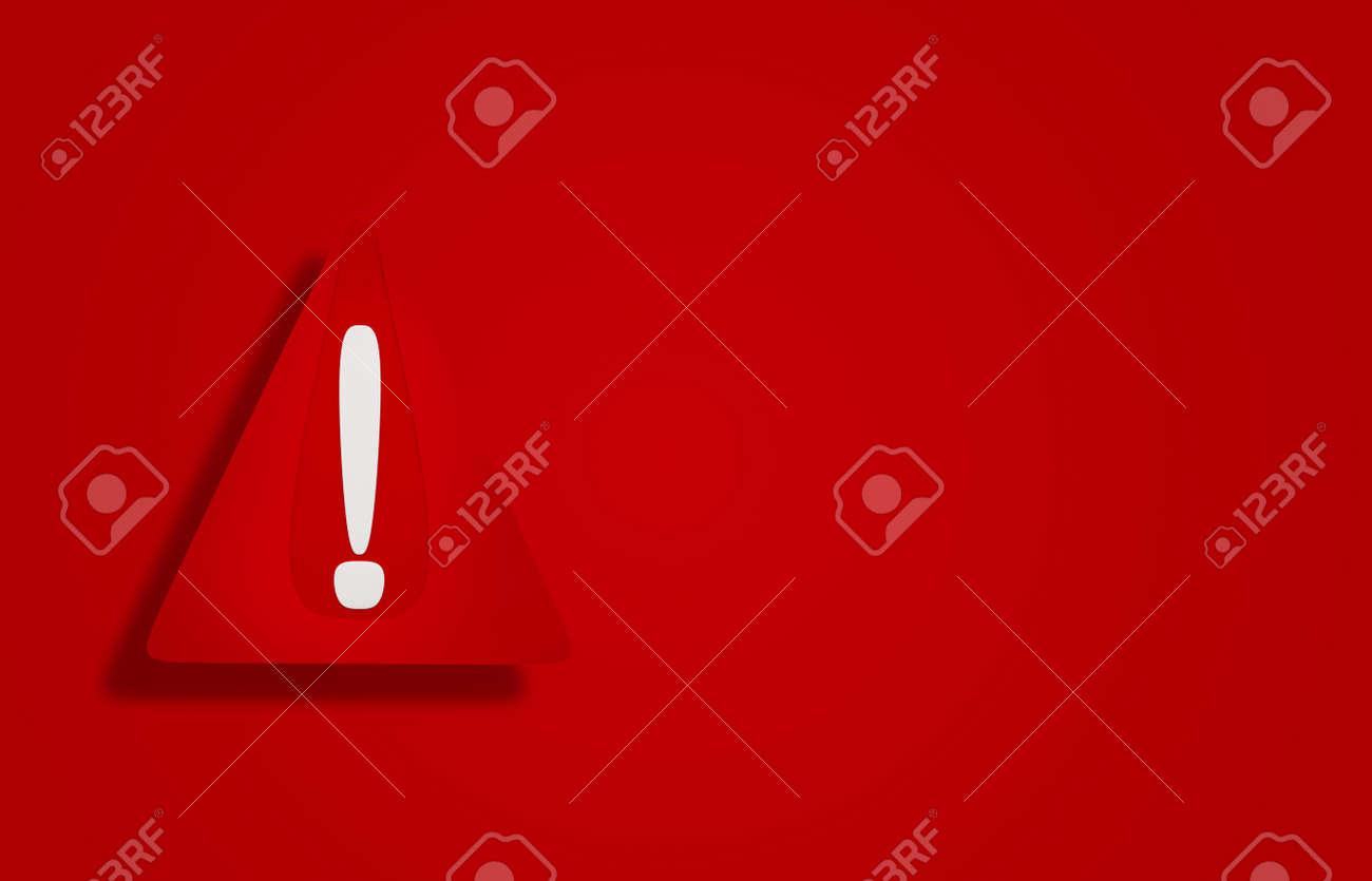 3d illustration red warning sign design - 169664597