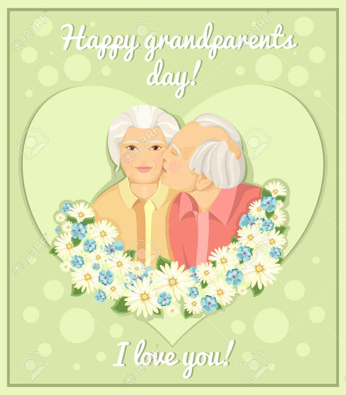 Holiday Card Grandparents Day Married Couple Grandmother And