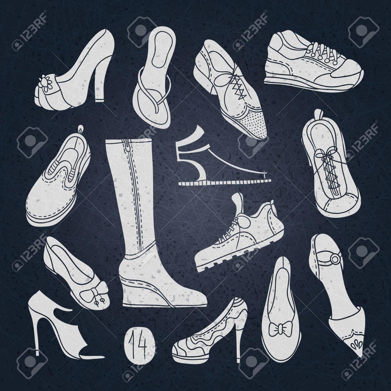 Chaussures pour hommes, Chaussures pour femmes : Dessins