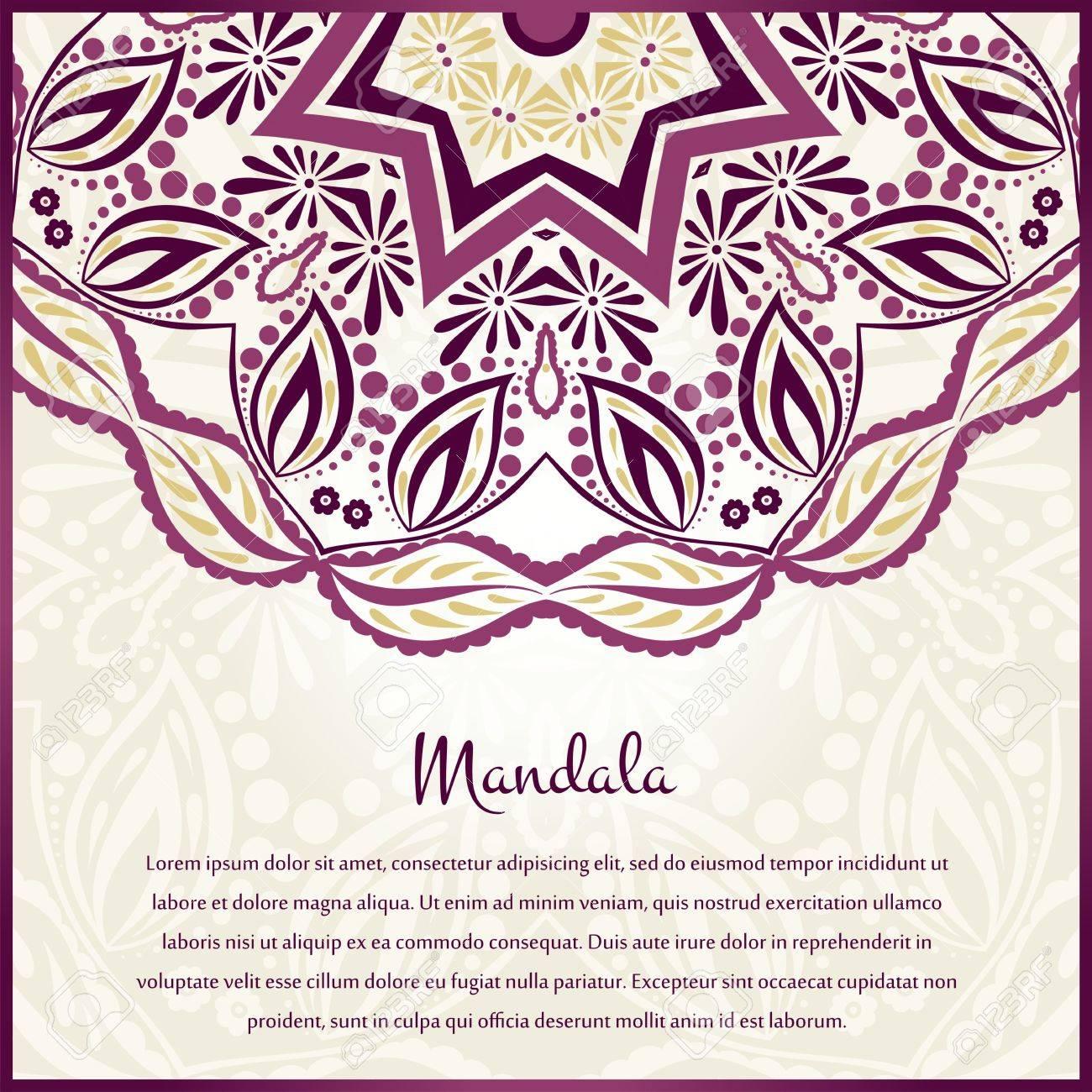 Fleur De Fond Circulaire Un Dessin Stylisé Mandala éléments Décoratifs Vintage Islam Arabe Indienne Motifs Ottomanes Fleurs Stylisées Placez