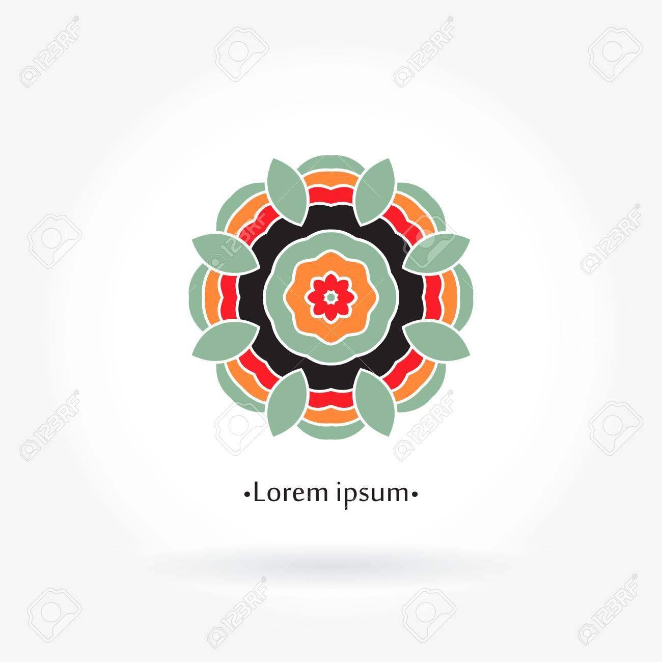 Hermoso Logo Circular Logotipo Geometrico Simple Logotipo De La