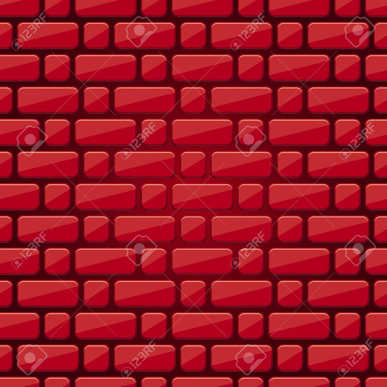 Red Brick Wall Vector Stacking Building Tecture