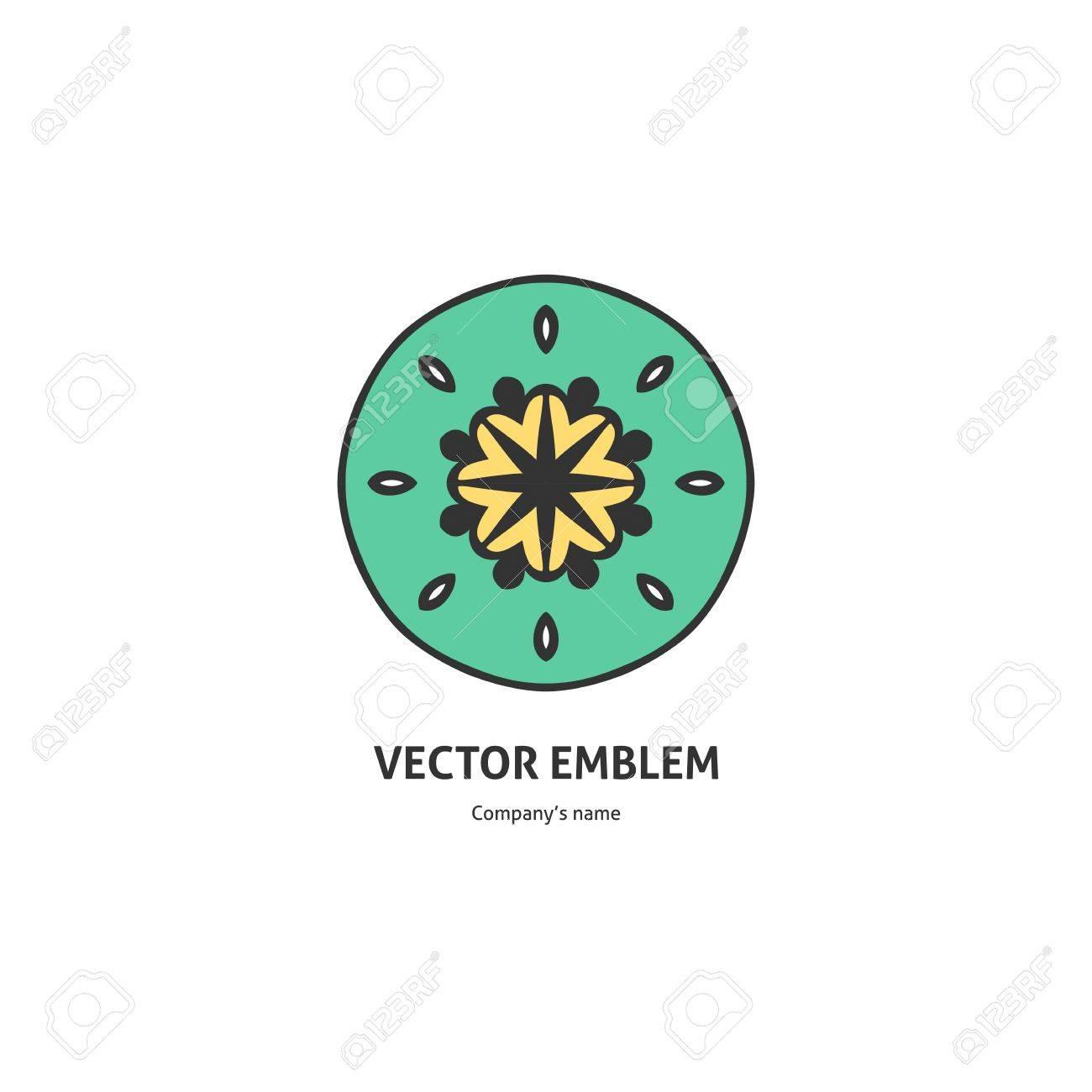 Logotipo Para El Estudio De Yoga, Fitness. Plantilla De Diseño De ...