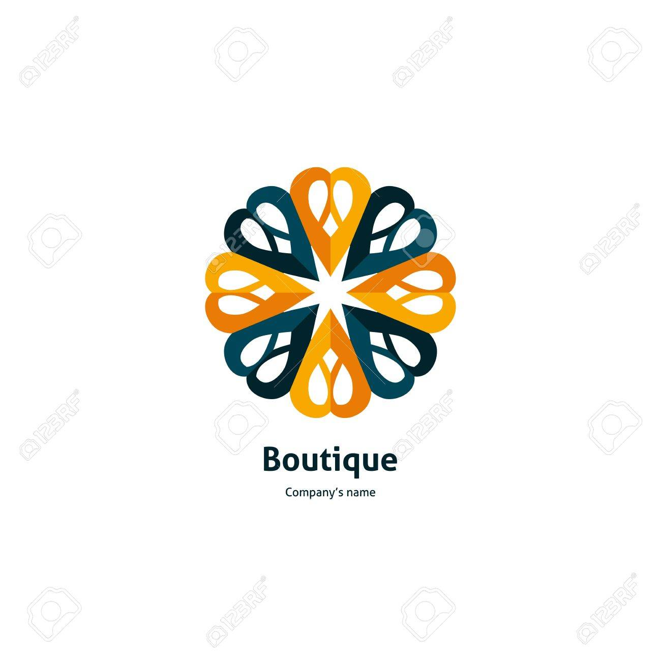 Yellow Flower For Organic Products Cosmetics Circular Logo