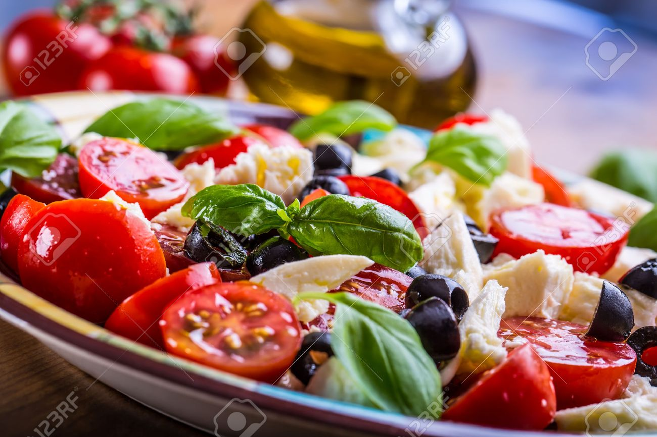 Caprese. caprese salade. italiaanse salade. mediterrane salade ...