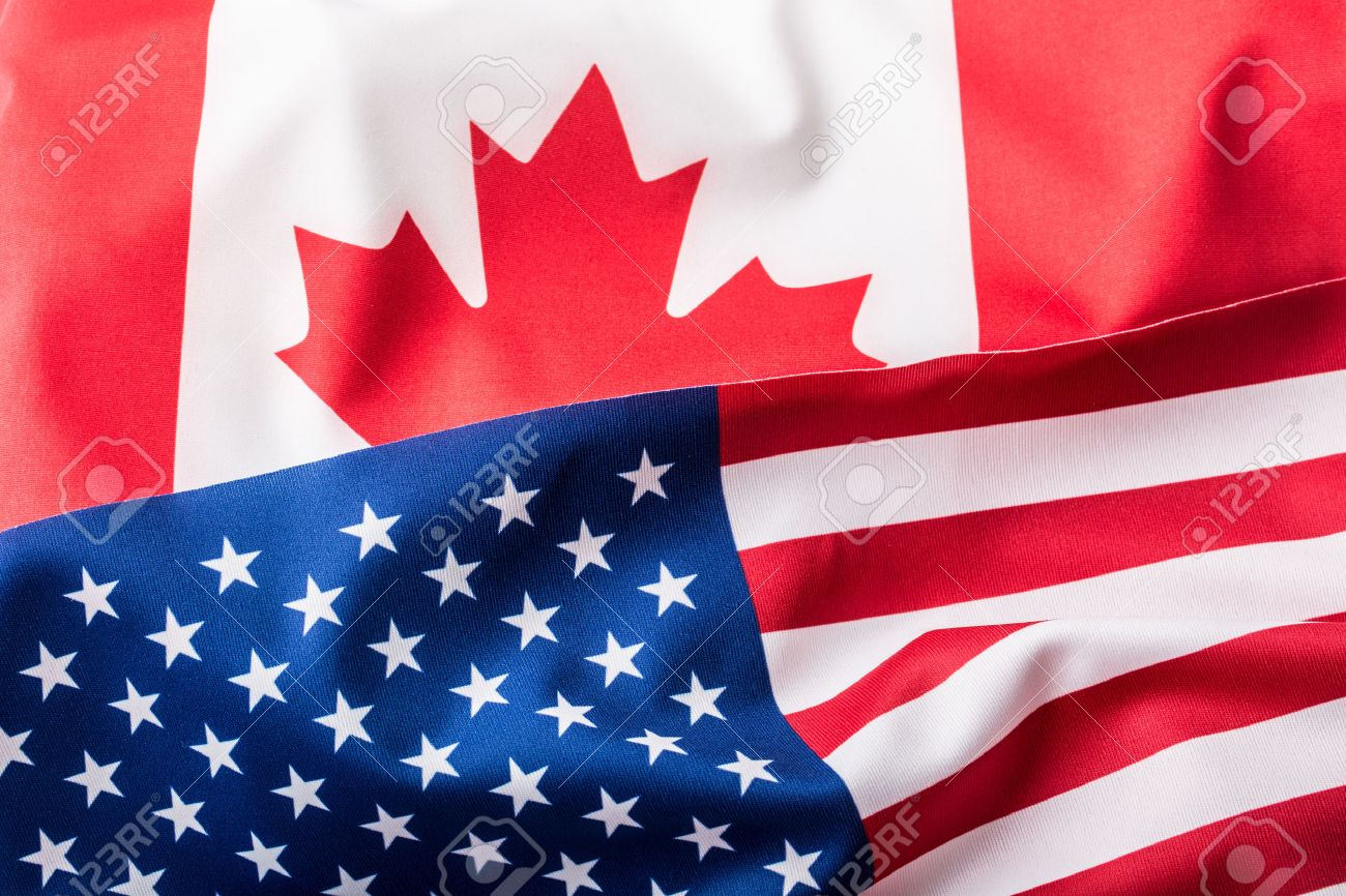 bf4b8c8ca3d USA and Canada. USA flag and Canada flag Stock Photo - 51704255
