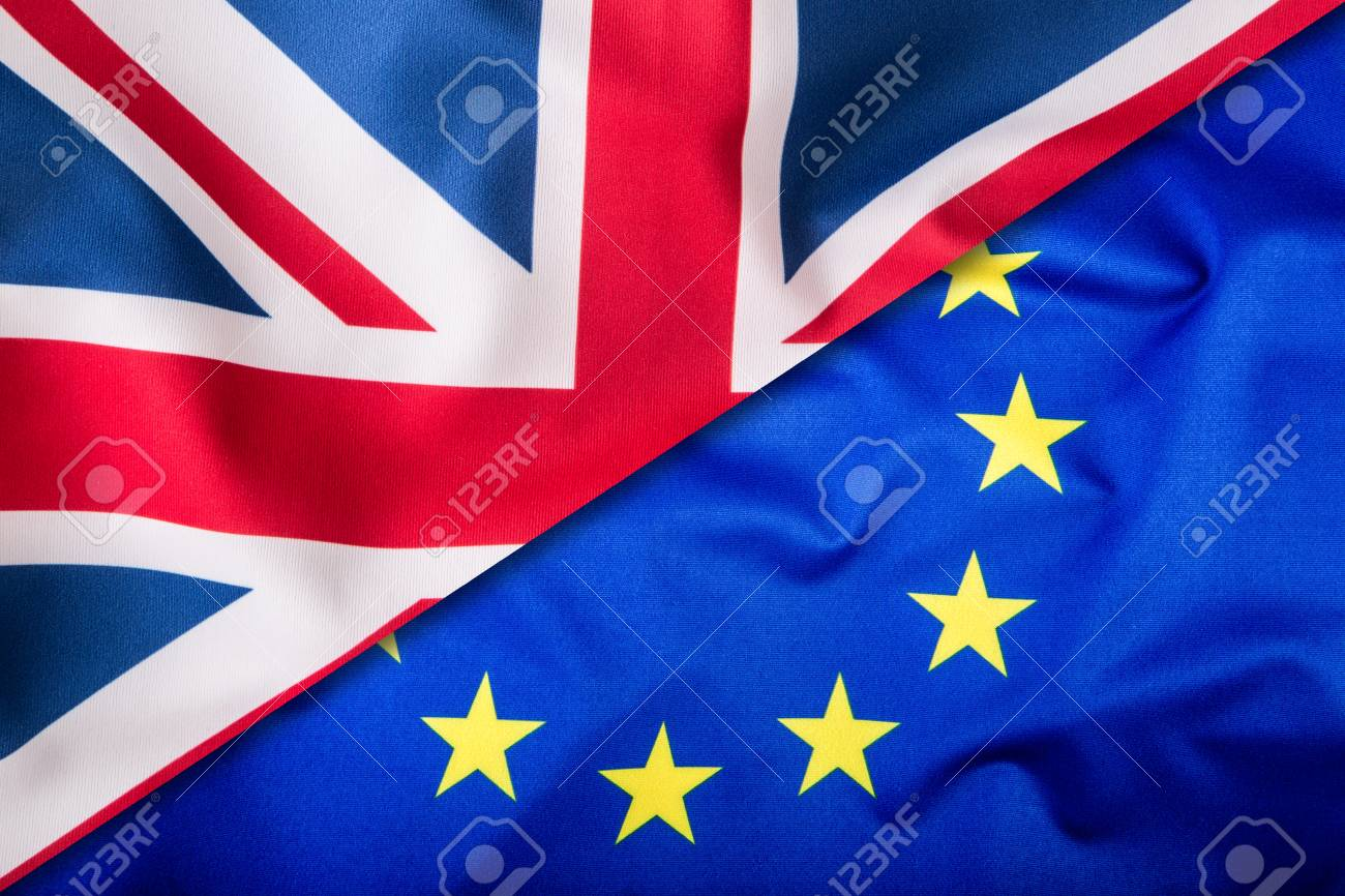 Flags Of The United Kingdom And The European Union UK Flag And
