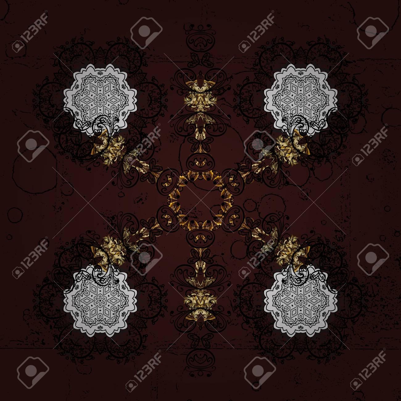 Un Copo De Nieve Elegante Zentangle. Ilustración De Invierno ...