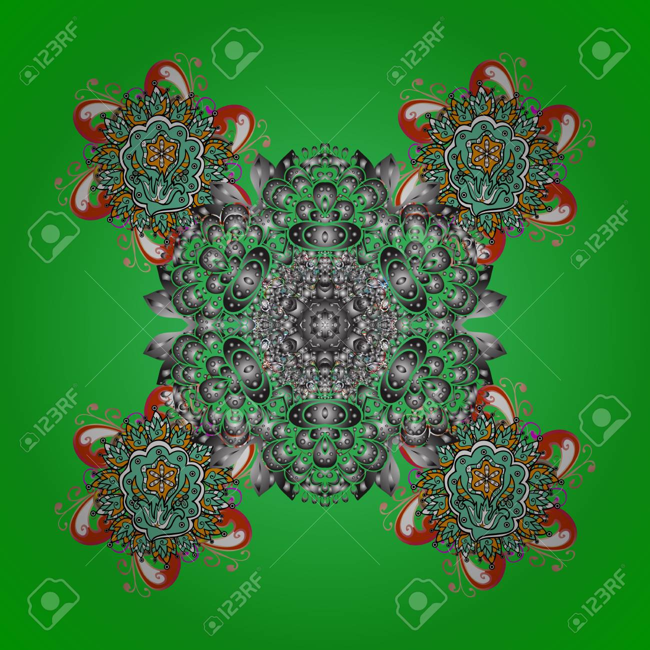Una Ilustración Vectorial De Invierno Ornamental Para Decoración ...