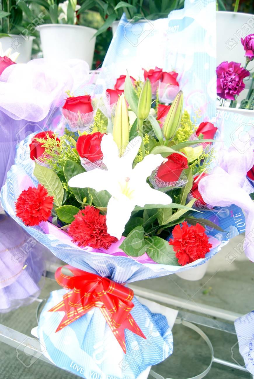 A Bunch Of Beautiful Flowers Delicate Flower Arrangement Of Stock