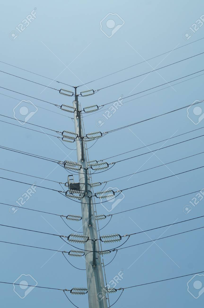 High Voltage Wire Rack Stock Photo, Picture And Royalty Free Image ...