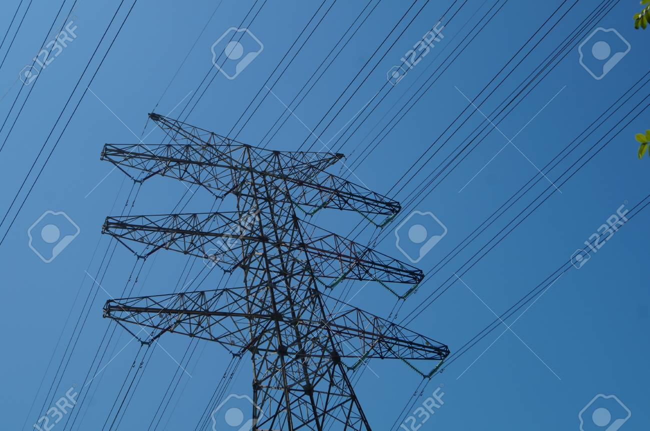 High Voltage Wire Rack And Power Facilities In Shenzhen Stock Photo ...