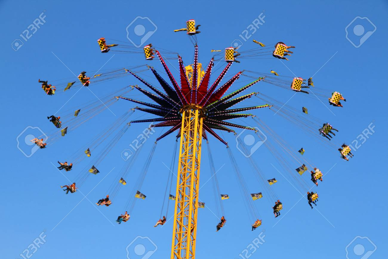 swing ride in amusement park Stock Photo - 22535916