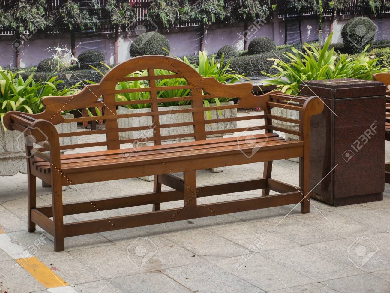 Surprising Wood Long Arms Chair In Garden Creativecarmelina Interior Chair Design Creativecarmelinacom