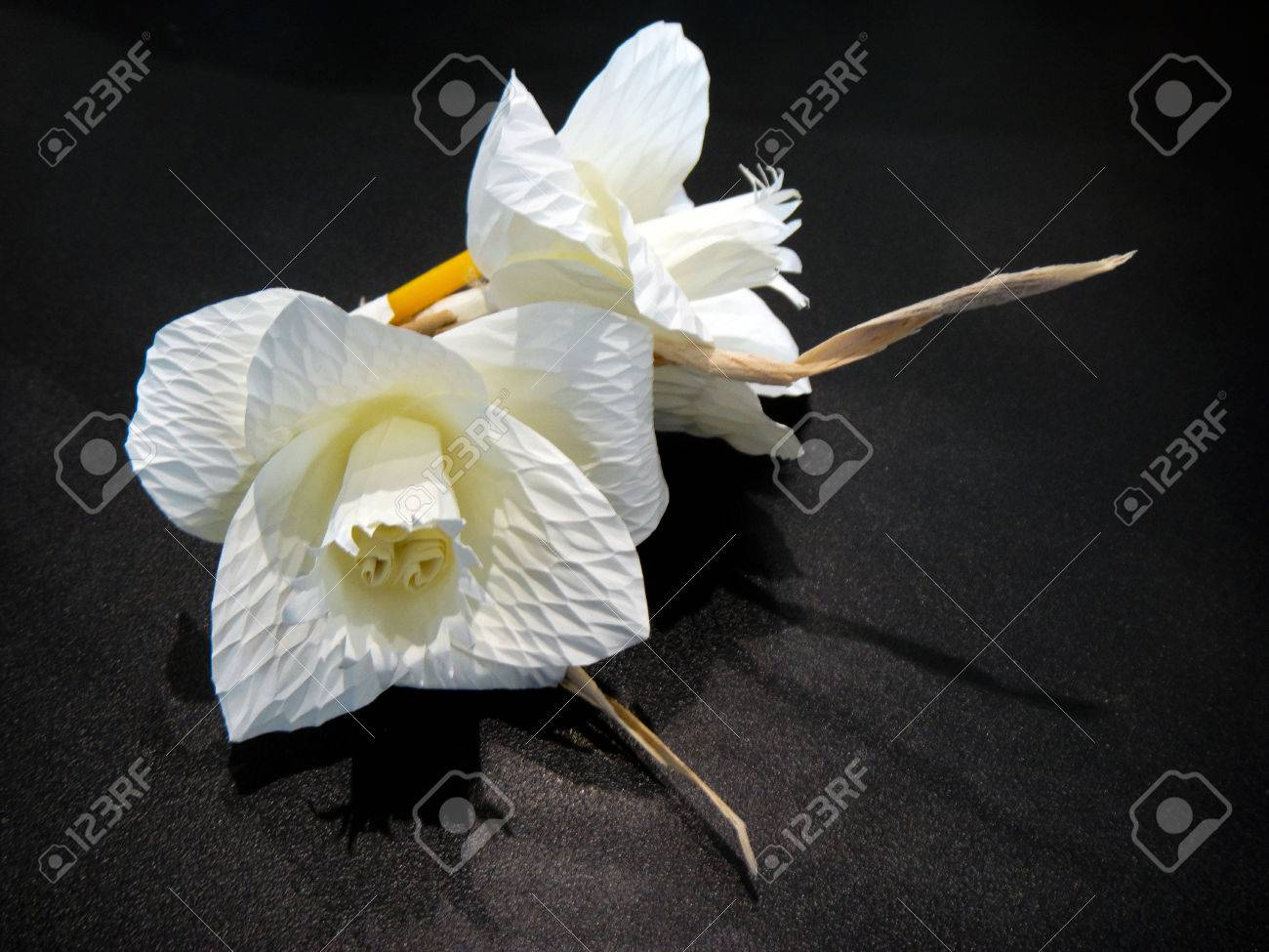 Thai funeral paper flowerkind of wood flower to be placed on stock photo thai funeral paper flowerkind of wood flower to be placed on the site of cremation izmirmasajfo