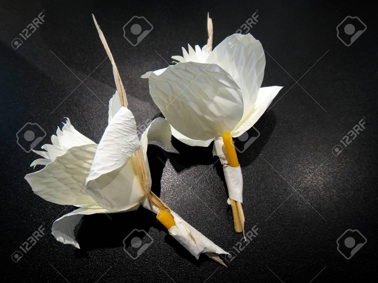 Thai funeral paper flowerkind of wood flower to be placed on stock photo thai funeral paper flowerkind of wood flower to be placed on the site of cremation izmirmasajfo Images
