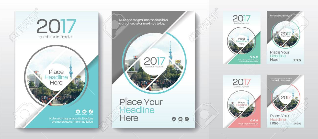 city background business book cover design template in a4 can
