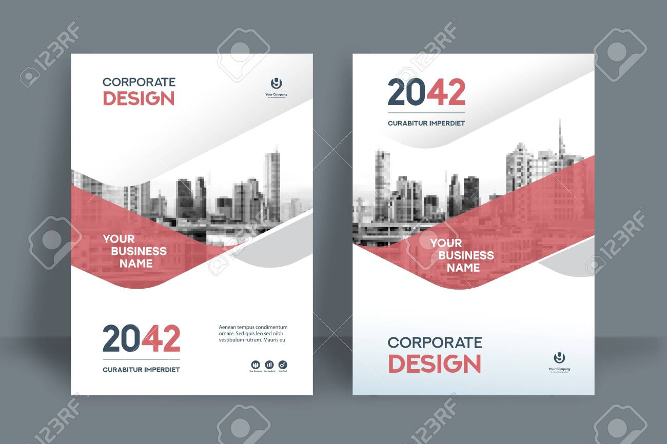Corporate Book Cover Design Template in A4. Can be adapt to Brochure, Annual Report, Magazine,Poster, Business Presentation, Portfolio, Flyer, Banner, Website. - 148020159