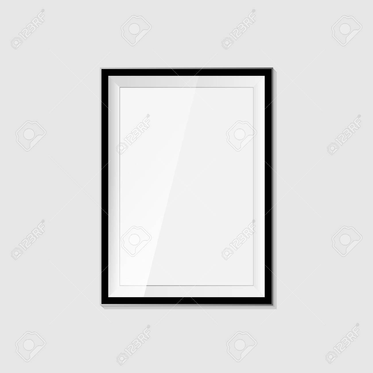 3D-Bilderrahmen-Design Für A4 Bild Oder Text Auf Weißem Hintergrund ...