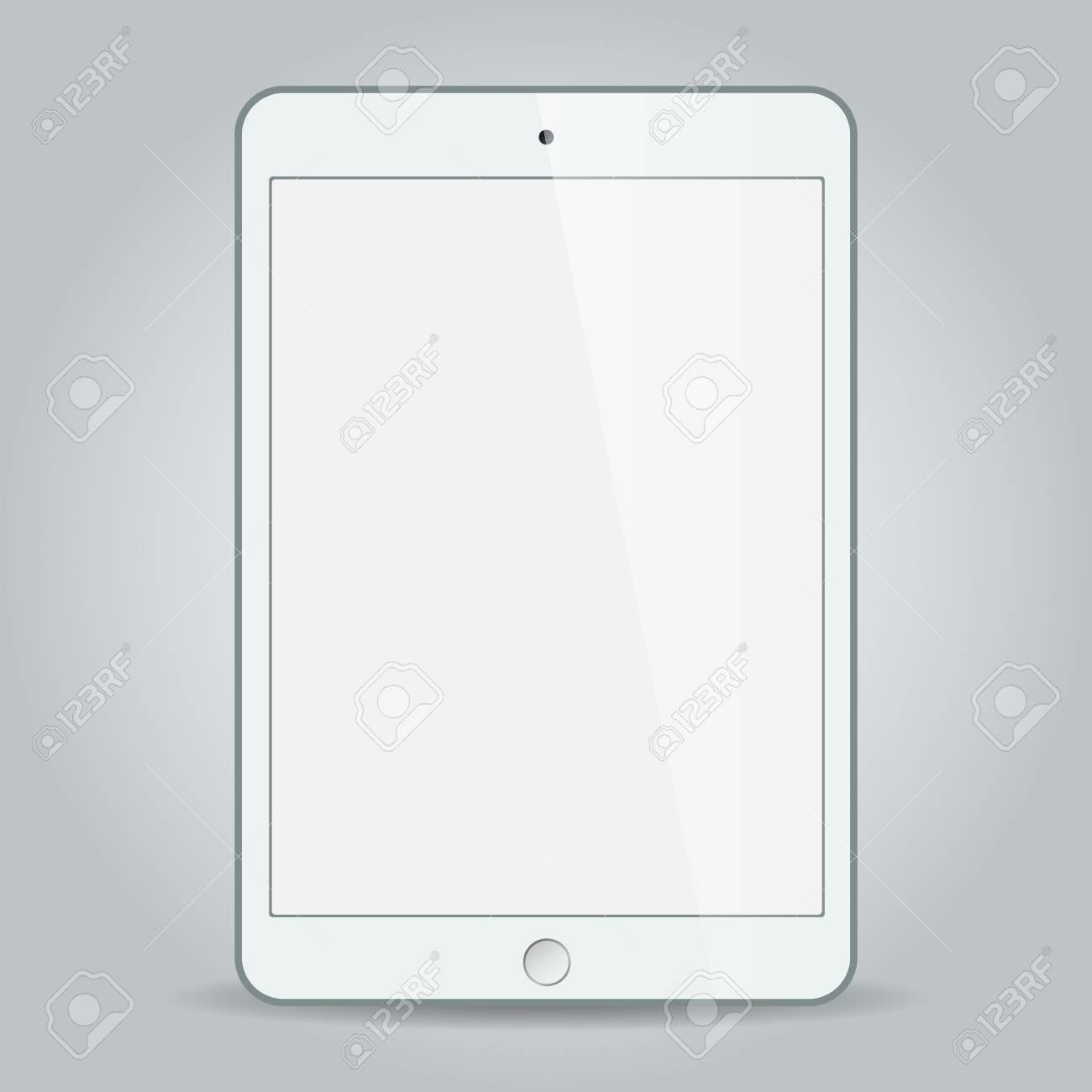 Realistic white tablet with blank screen isolated on white Stock Vector - 29113862