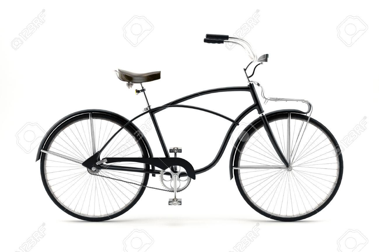 Retro styled image of a nineteenth century bicycle isolated on a white background - 31150252