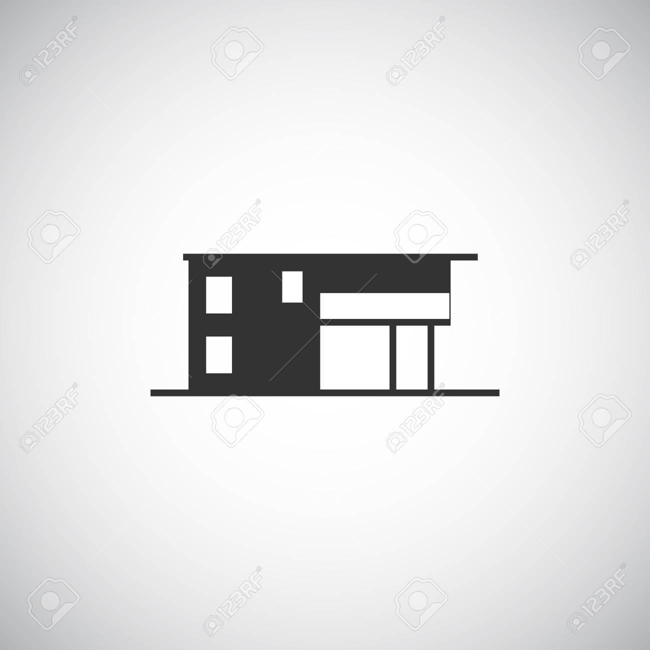 Abstraktes Gebäude-Silhouette. Immobilien-Haus-Logo-Design-Vorlage ...