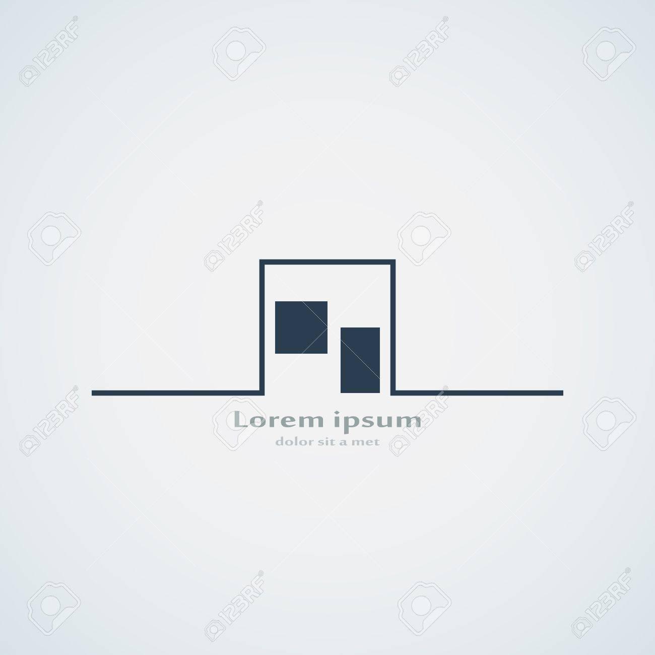 Zusammenfassung Gebäude Silhouette. Immobilien Haus Logo-Design ...