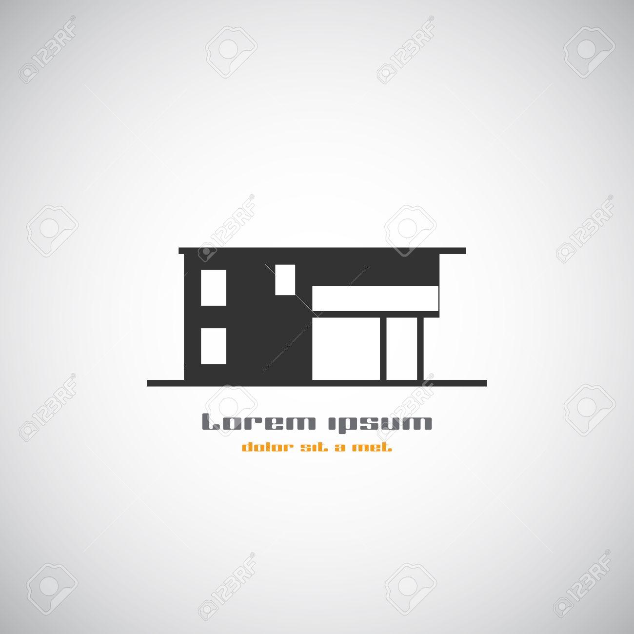 real estate house logo design template icon modern graphic concept element - Home Graphic Design