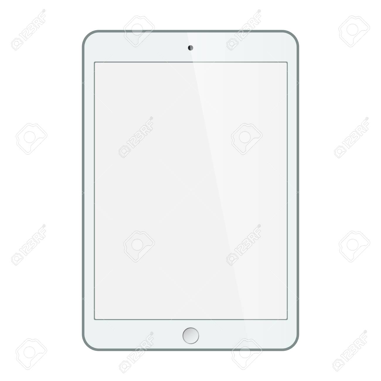 Realistic black tablet with blank screen isolated on white. vector - 31288926